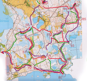 Планировка дистанции на 9-м Чемпионате Европы по рогейну 2012
